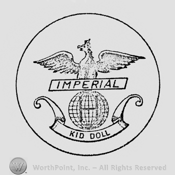 an eagle above an earth globe inside a circle; IMPERIAL  and KID DOLL written below.