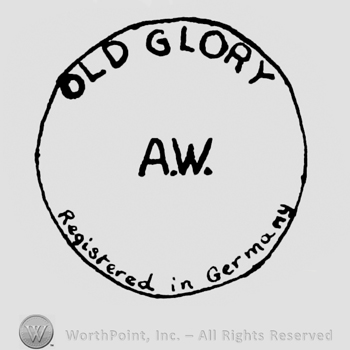 a circle with the text Old Glory AW Registered in Germany