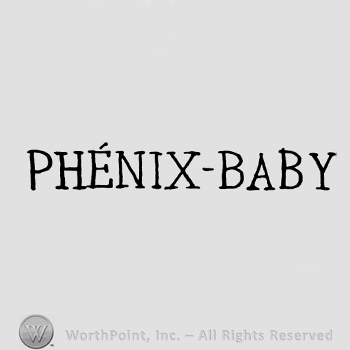 the text PHENIX-BABY in uppercase