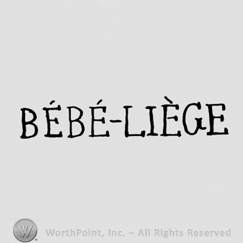 the text BEBE LIEGE in uppercase letters