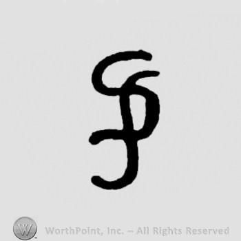 two letters S overlapping resimbling a letter P