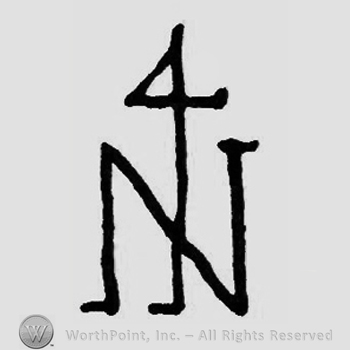 Letter N and a 4 over.