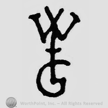 Initials W and G one above the other.