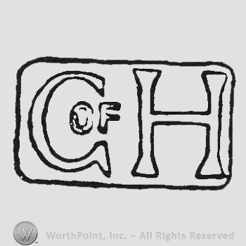 label G of H in capital hollow letters