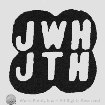 White initials JWH up JTH under all inside four black circles