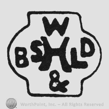 Bold initials W up & down BSHLD middle on a pot
