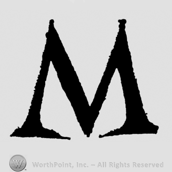 Mark With Bold Capital Letter M