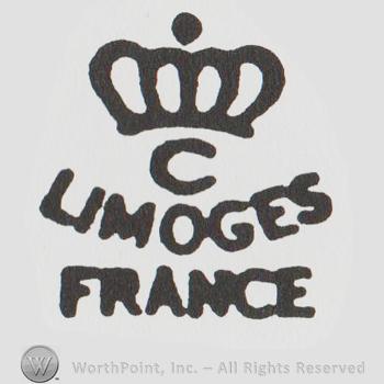 mark with a crown above c limoges france 36154. Black Bedroom Furniture Sets. Home Design Ideas