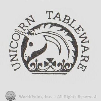sc 1 st  WorthPoint & Mark with Unicorn mark Unicorn Tableware written | #4974