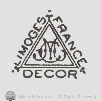 mark with a triangle and limoges france decor 8502. Black Bedroom Furniture Sets. Home Design Ideas